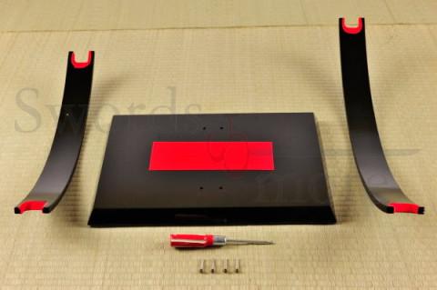 Design Ständer für 2 Schwerter - mit Samtauflage