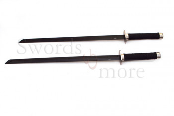 Black Ninja Sword Set With Back Scabbard