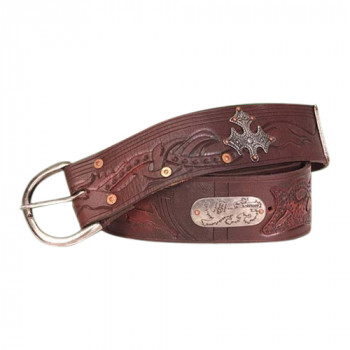 Outlaw Wide Leather Belt