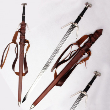 Witcher Silver Sword handforged with belt - ltd Edition 500