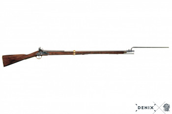 Brown Bess rifle, with bayonet 1799-1815, Napoleon's time