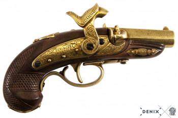 Deringer pistol, brass colored, plastic, Philadelphia, USA 1862