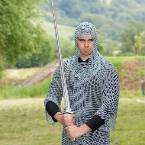 Chain mail with hood, oversize